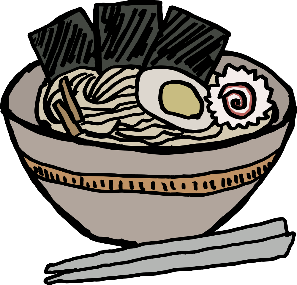 OnlineLabels Clip Art - Ramen Bowl With Nori