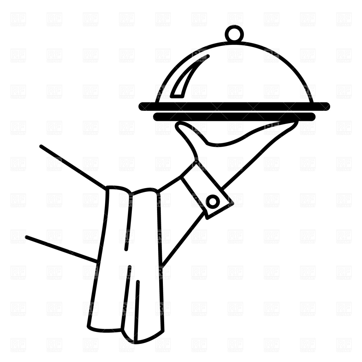 Waitress clipart food catering. Free chef dish cliparts