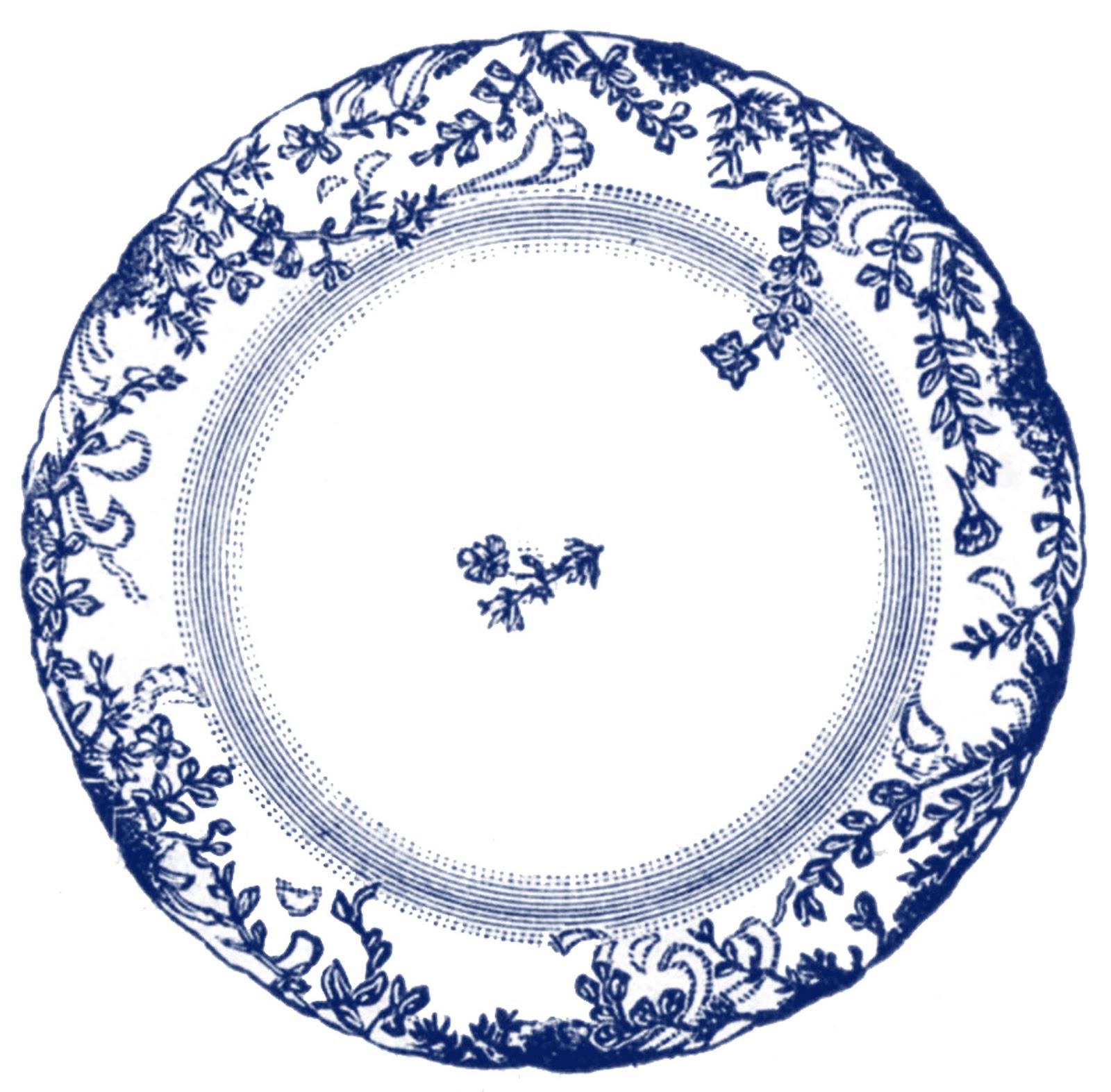 Plate clipart plate china. Vintage clip art antique