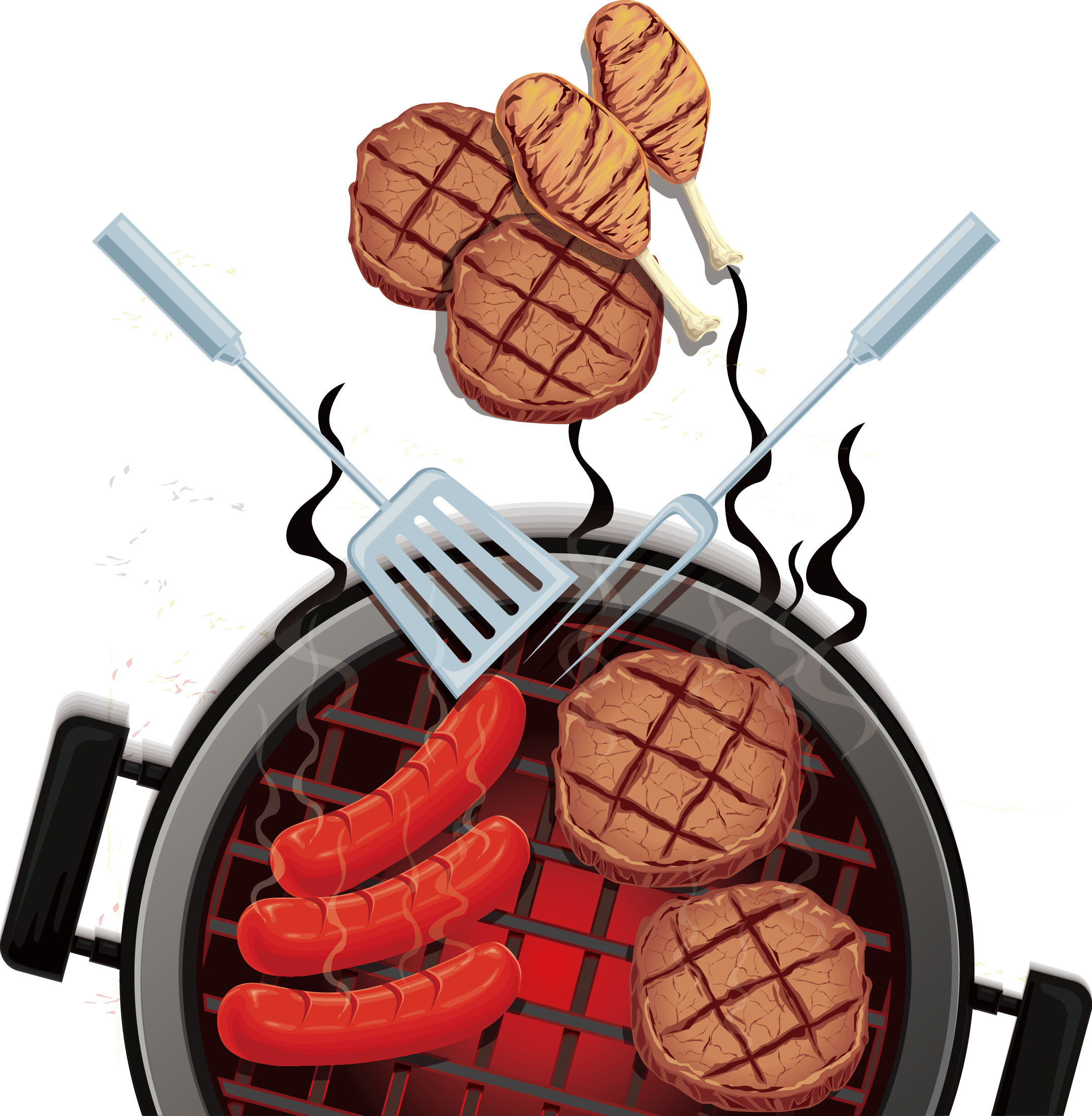 Ham clipart barbecue meat. Barbacoa grilling barbecued