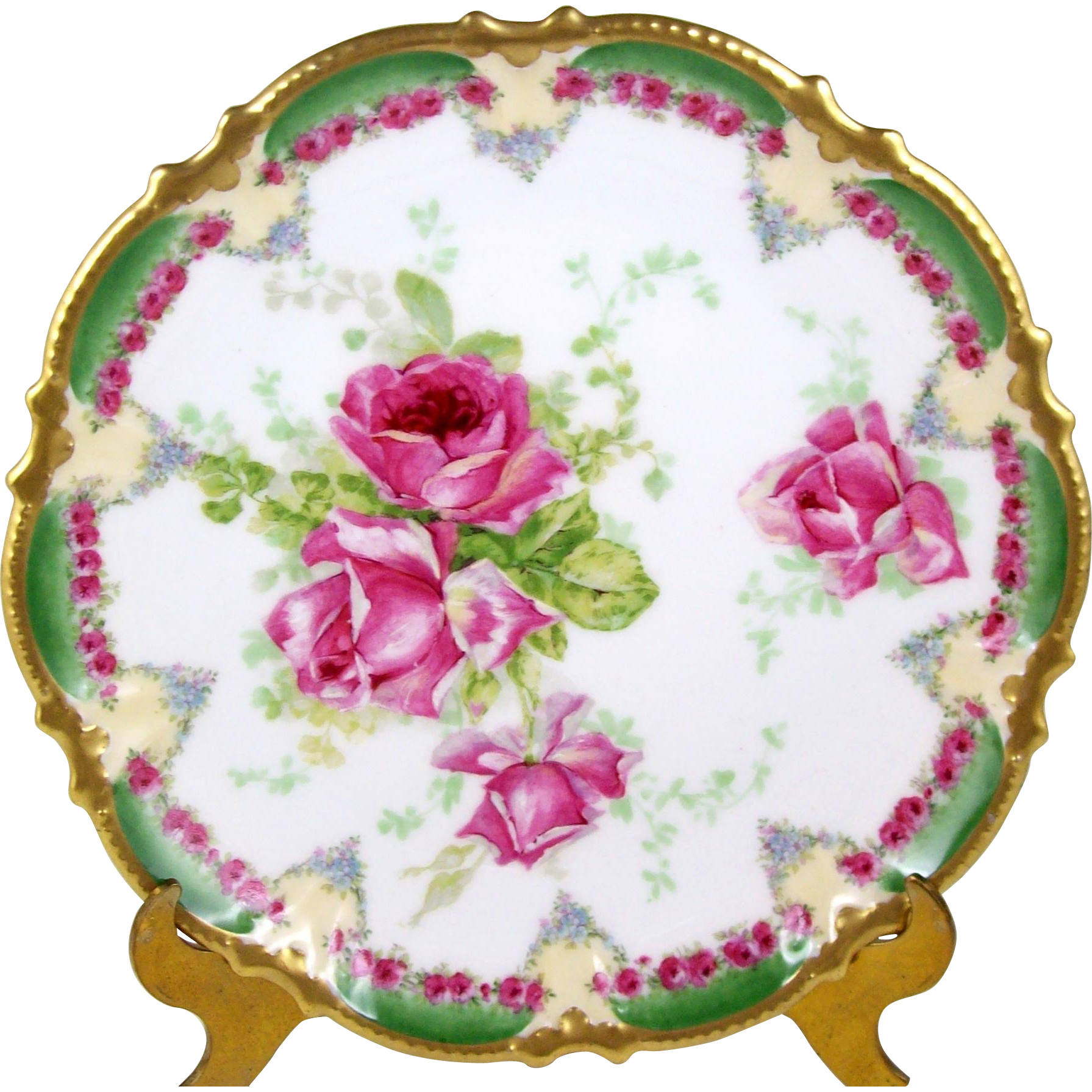 Antique coronet limoges pink. Plate clipart plate china