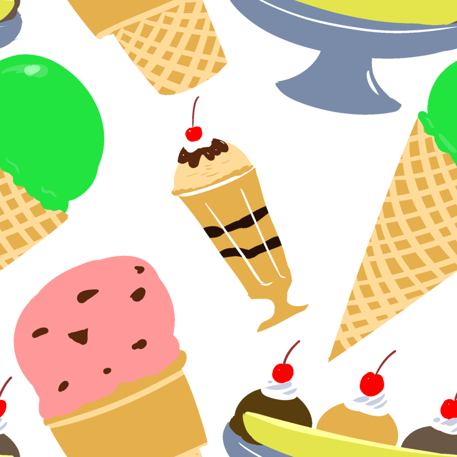 Ice cream pattern by. Waffle clipart wafer