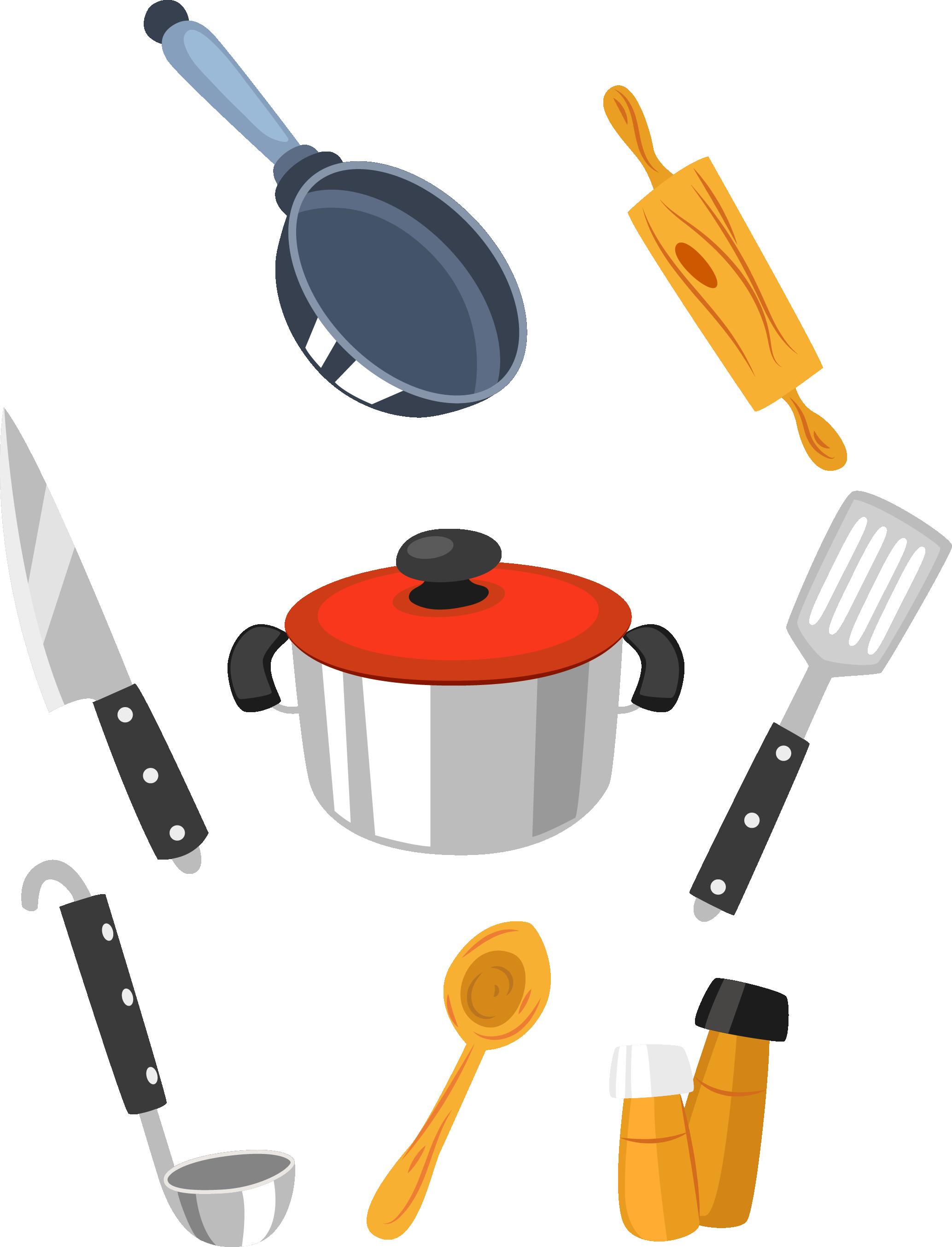 Ham clipart pan. Kitchen cartoon transprent png