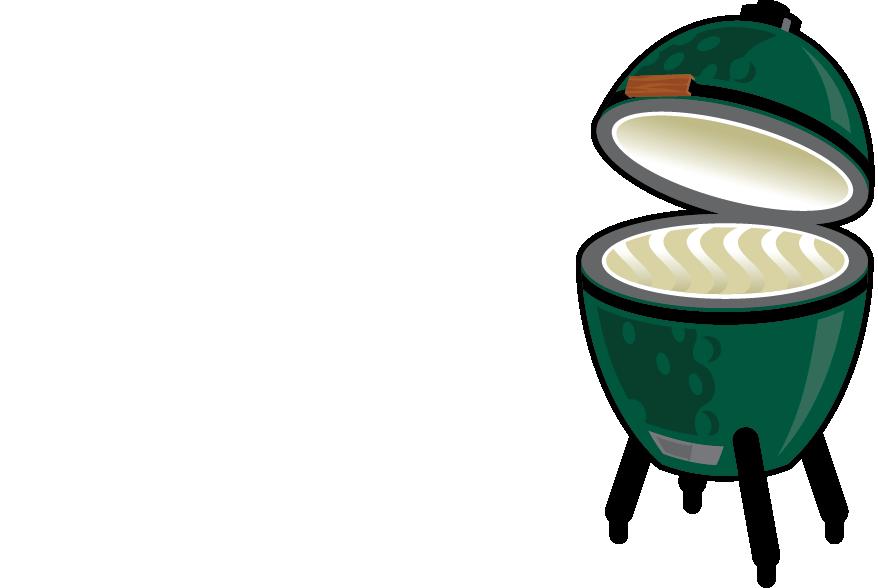 Big green egg . Fridge clipart freezer meal