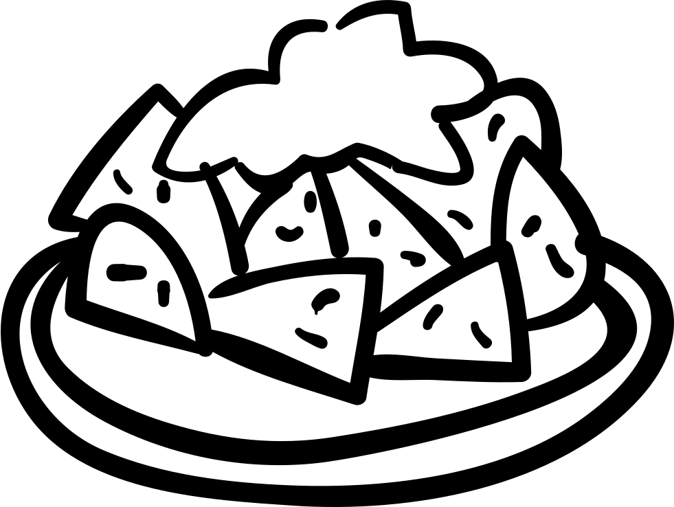 Food plate hand drawn. Luncheon clipart covered dish