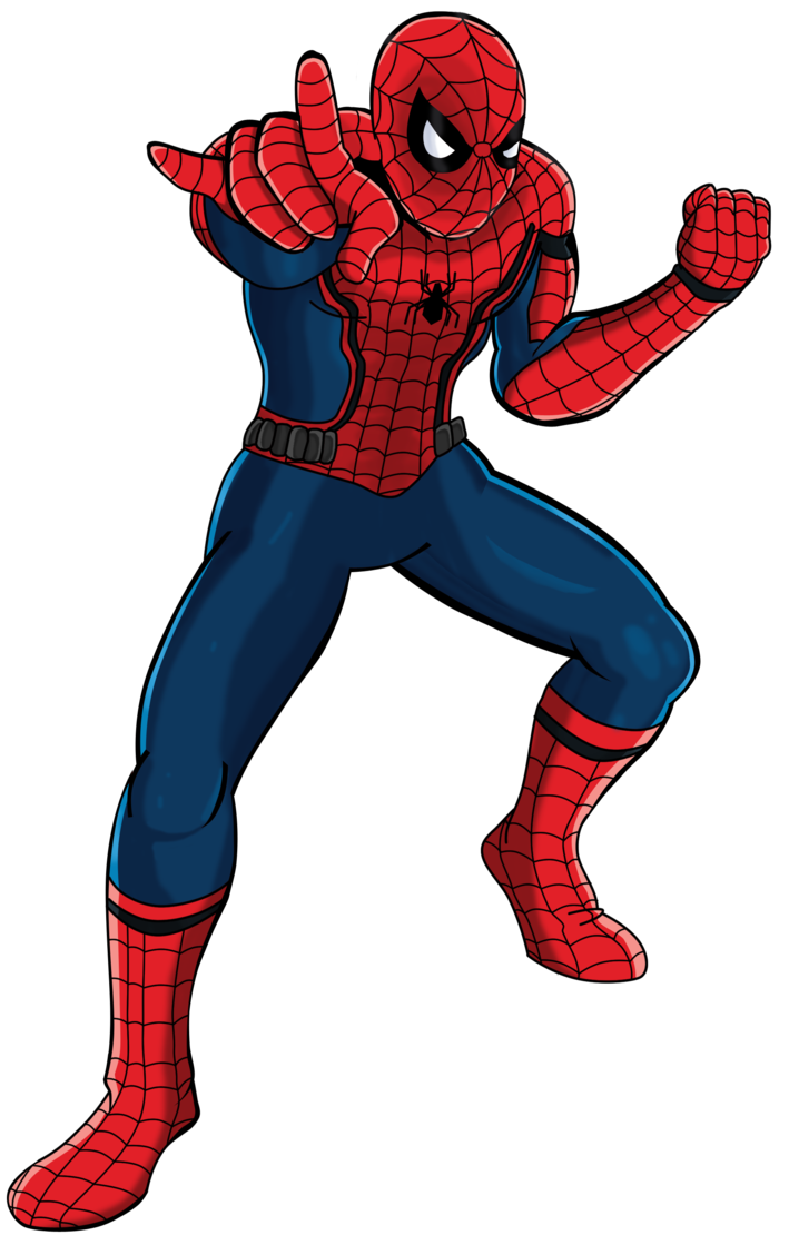 Guy clipart animated. Spider man free collection
