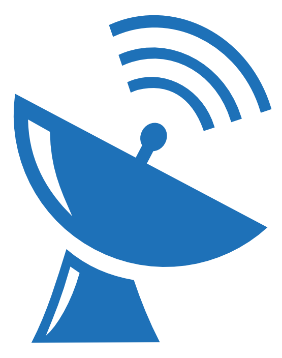 Satellite dish icon free. Hook clipart simple