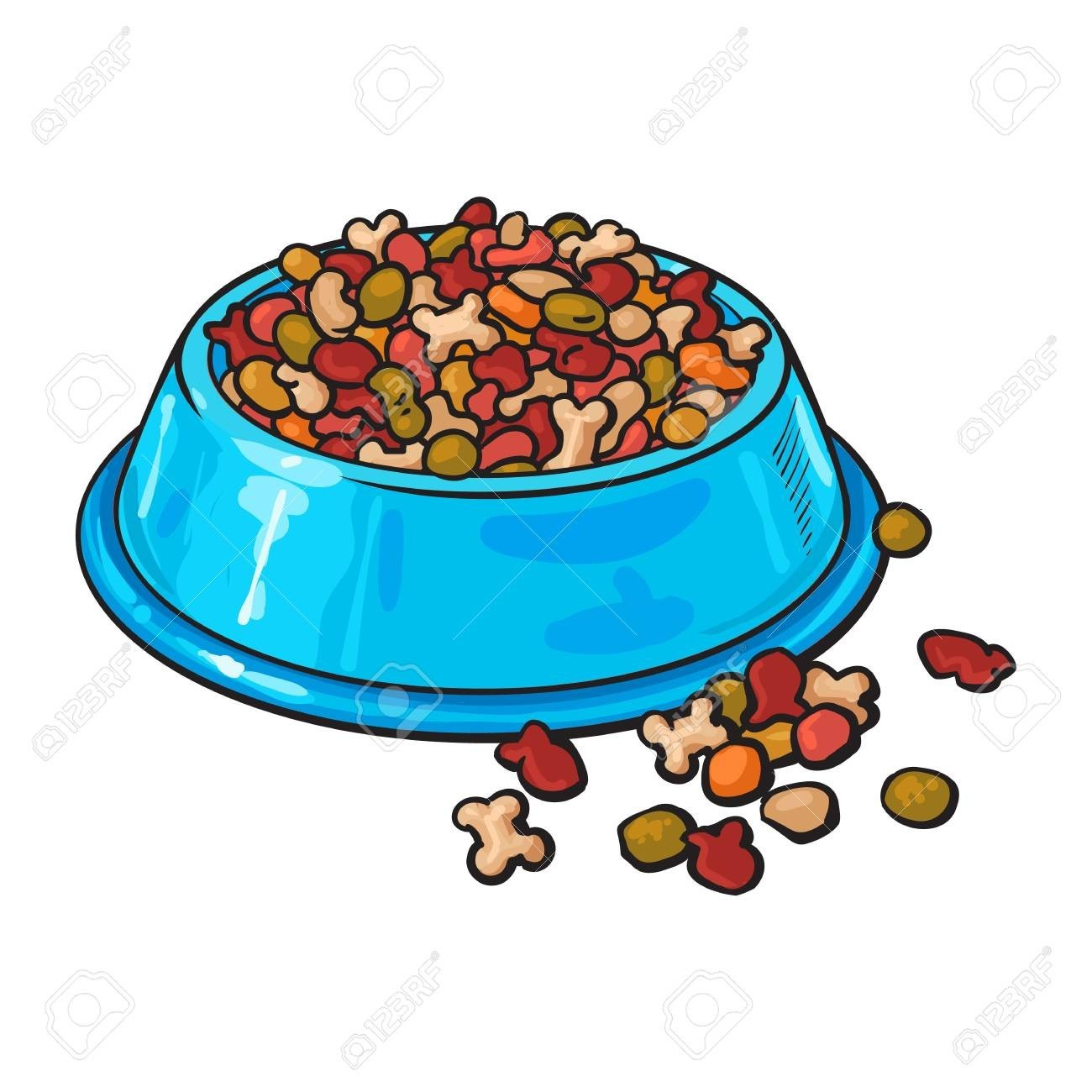 Dishes clipart milk bowl. On cat dish clip