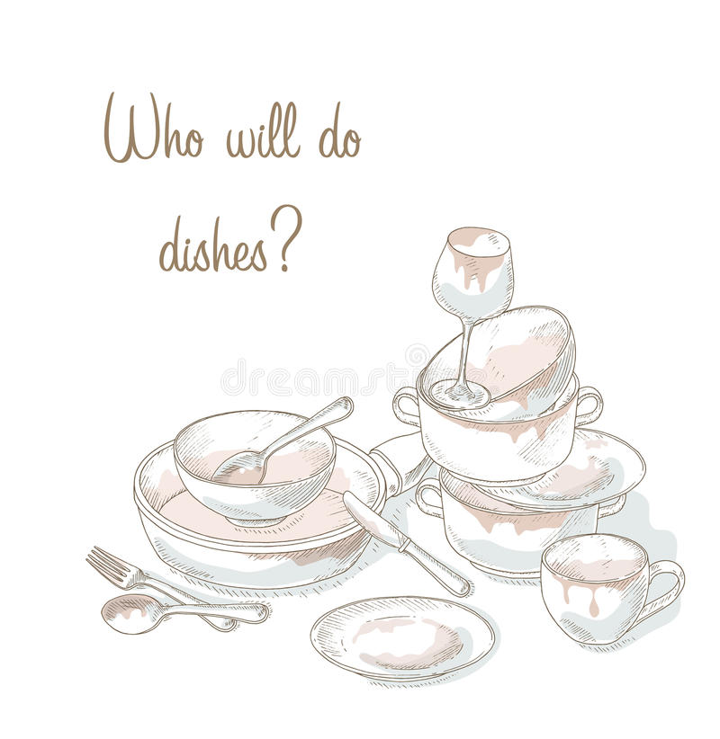 Resolution drawing of a. Dish clipart pile