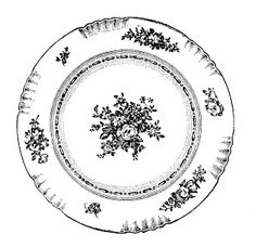 Free vintage clip art. Plate clipart plate china
