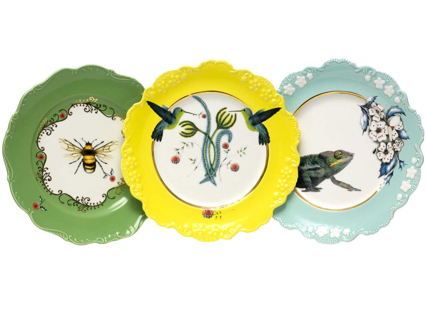 Quirky colourful plates from. Dish clipart small plate