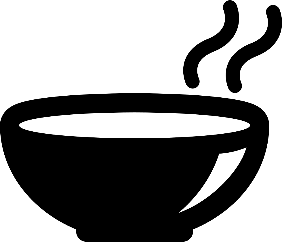 Dish clipart soup bowl. Hot svg png icon