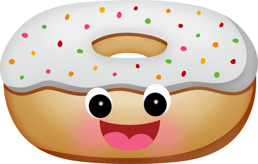 Doughnut clipart emoji. Gifs divertidos pro d