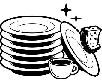 Dishes clipart.  collection of clean