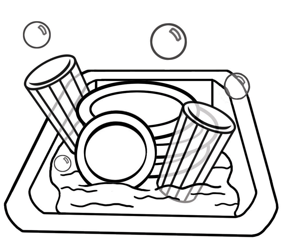 Unique gallery digital collection. Dishes clipart