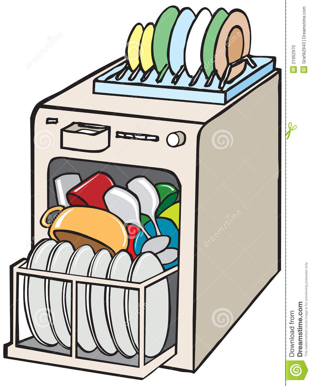 Clip art unloading . Dishes clipart