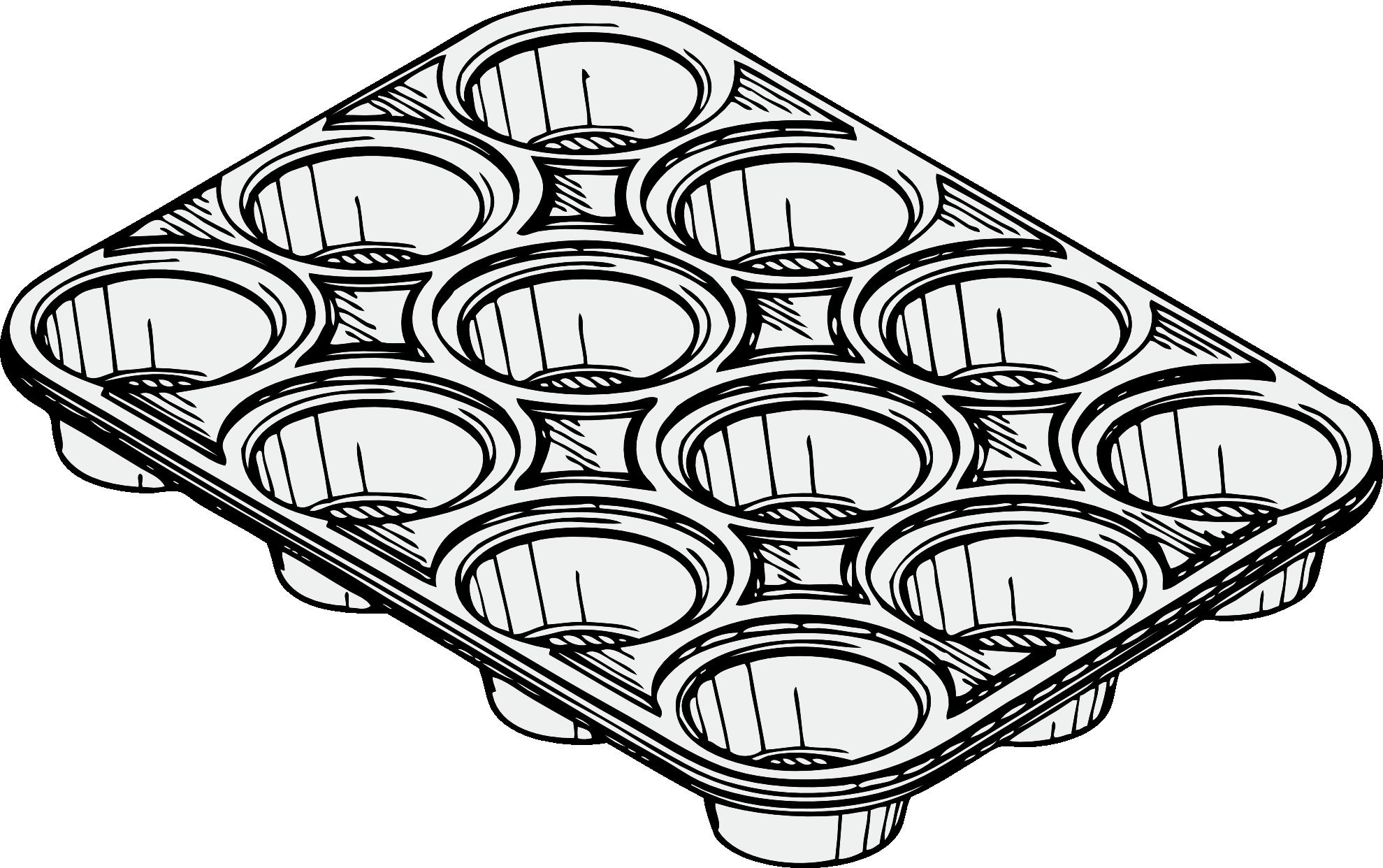 Muffin clipart muffin pan. Tin panda free images