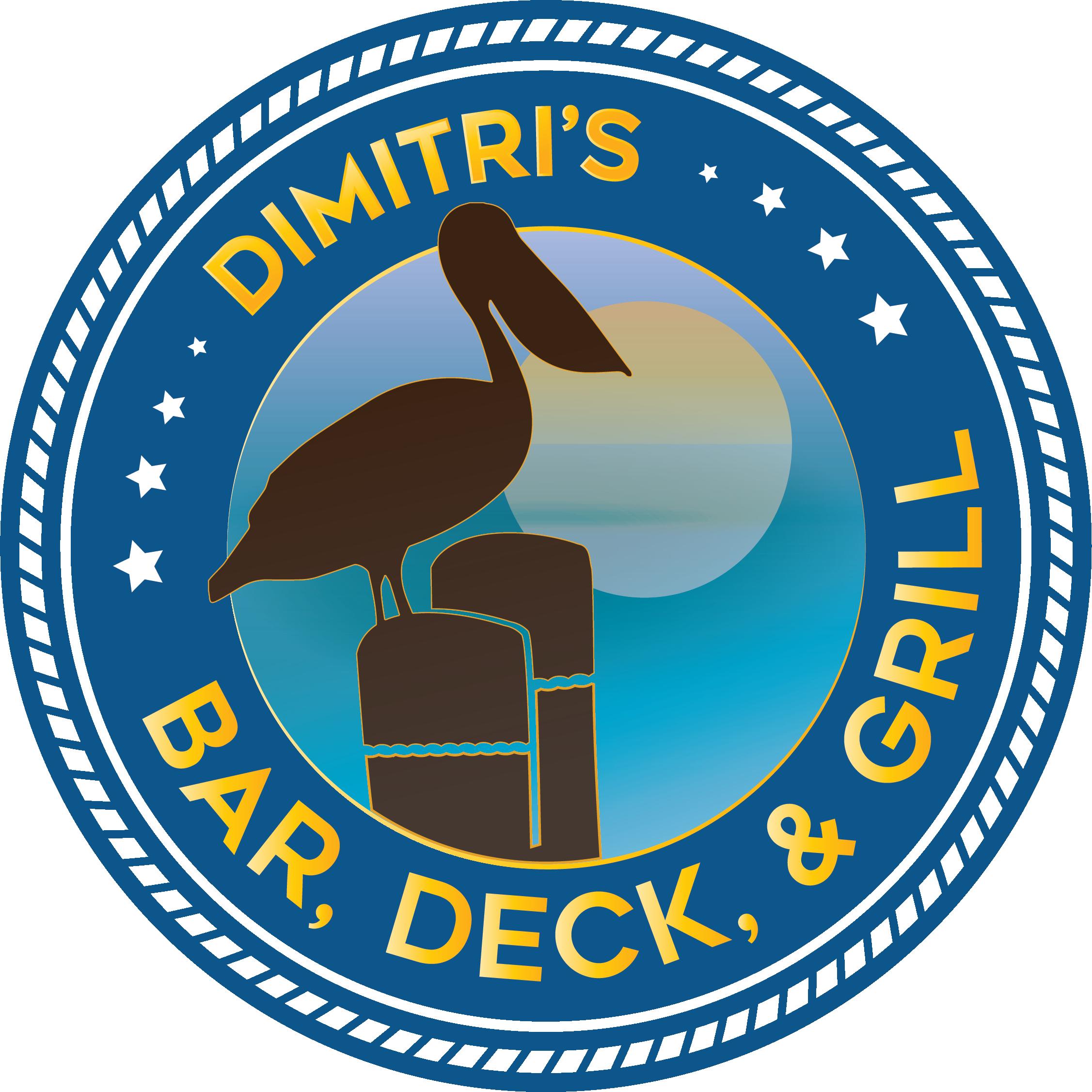 Pelican clipart fish. Dimitris bar deck and