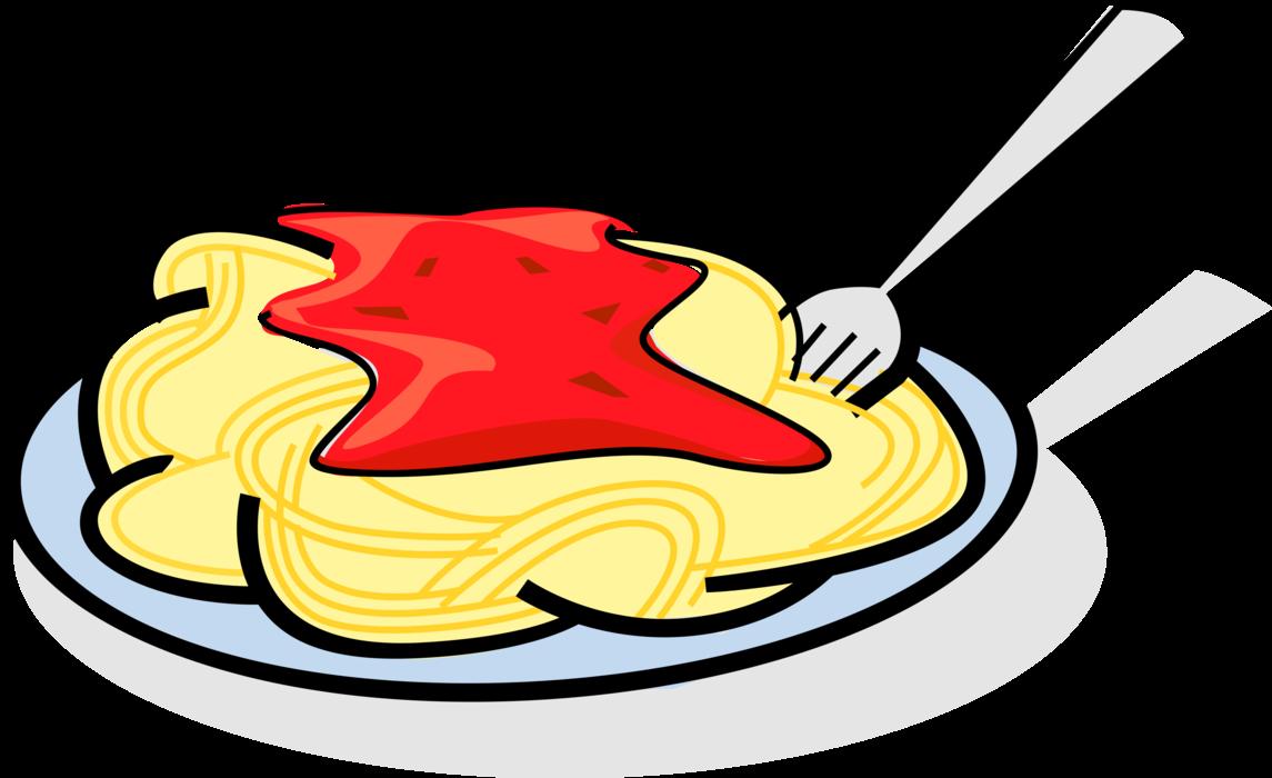 Plate of italian pasta. Foods clipart spaghetti
