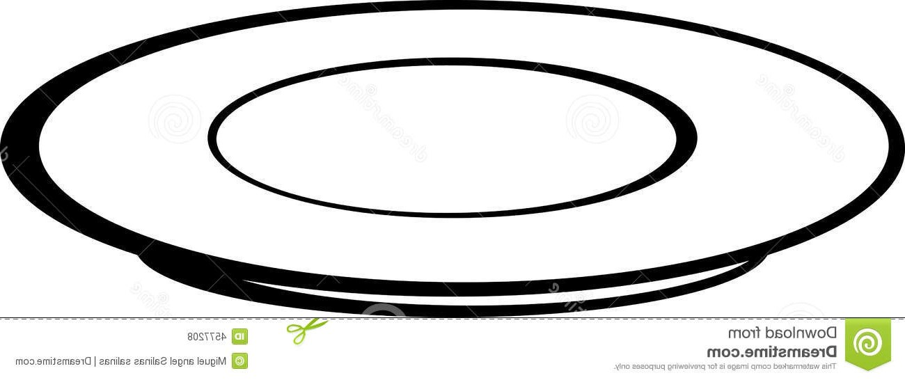 Free download best . Plate clipart black and white