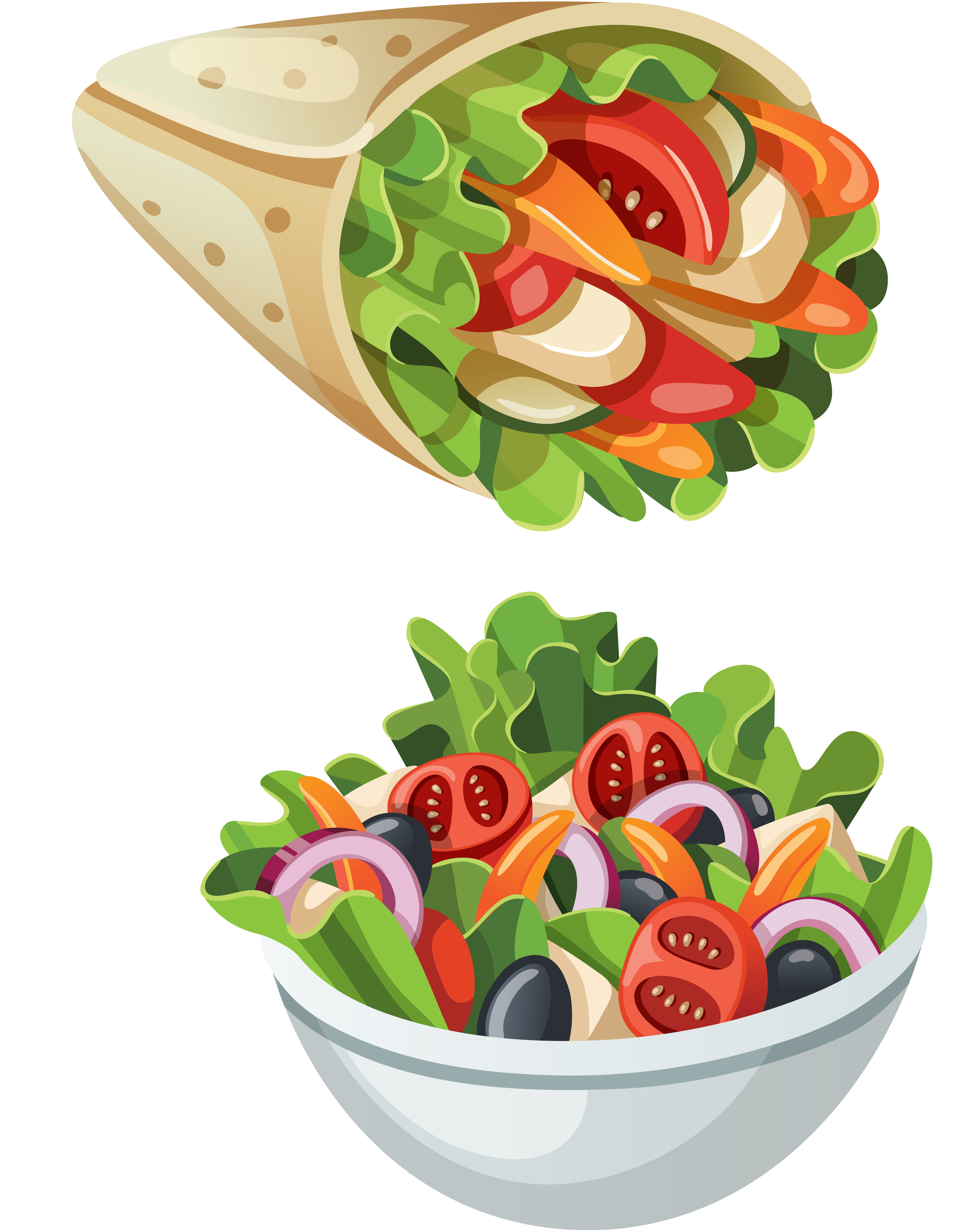 Dishes clipart vegetable salad, Dishes vegetable salad ...