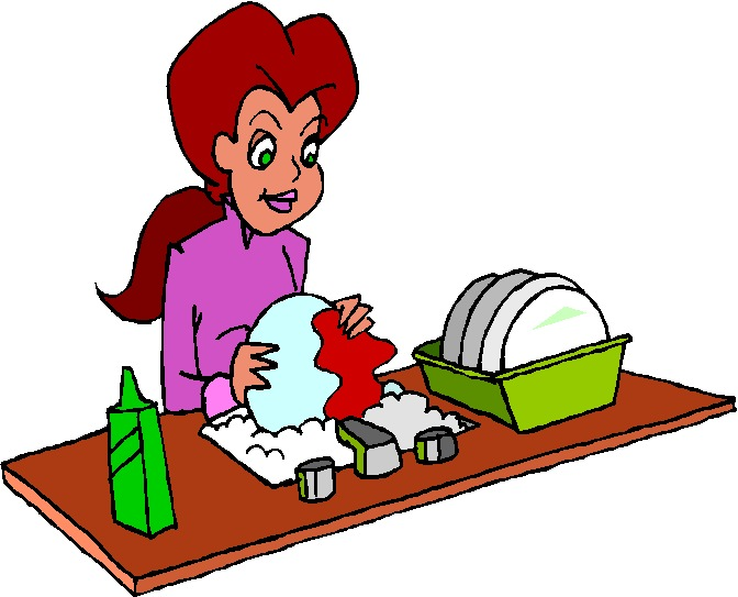 Maid clipart washing dish. Dishes clip art n