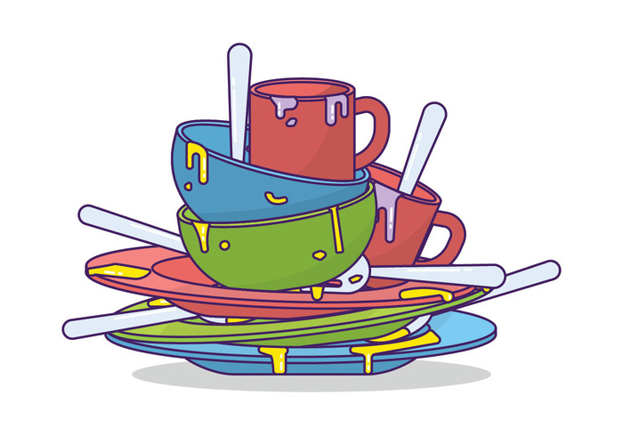Free dirty cliparts download. Dishes clipart