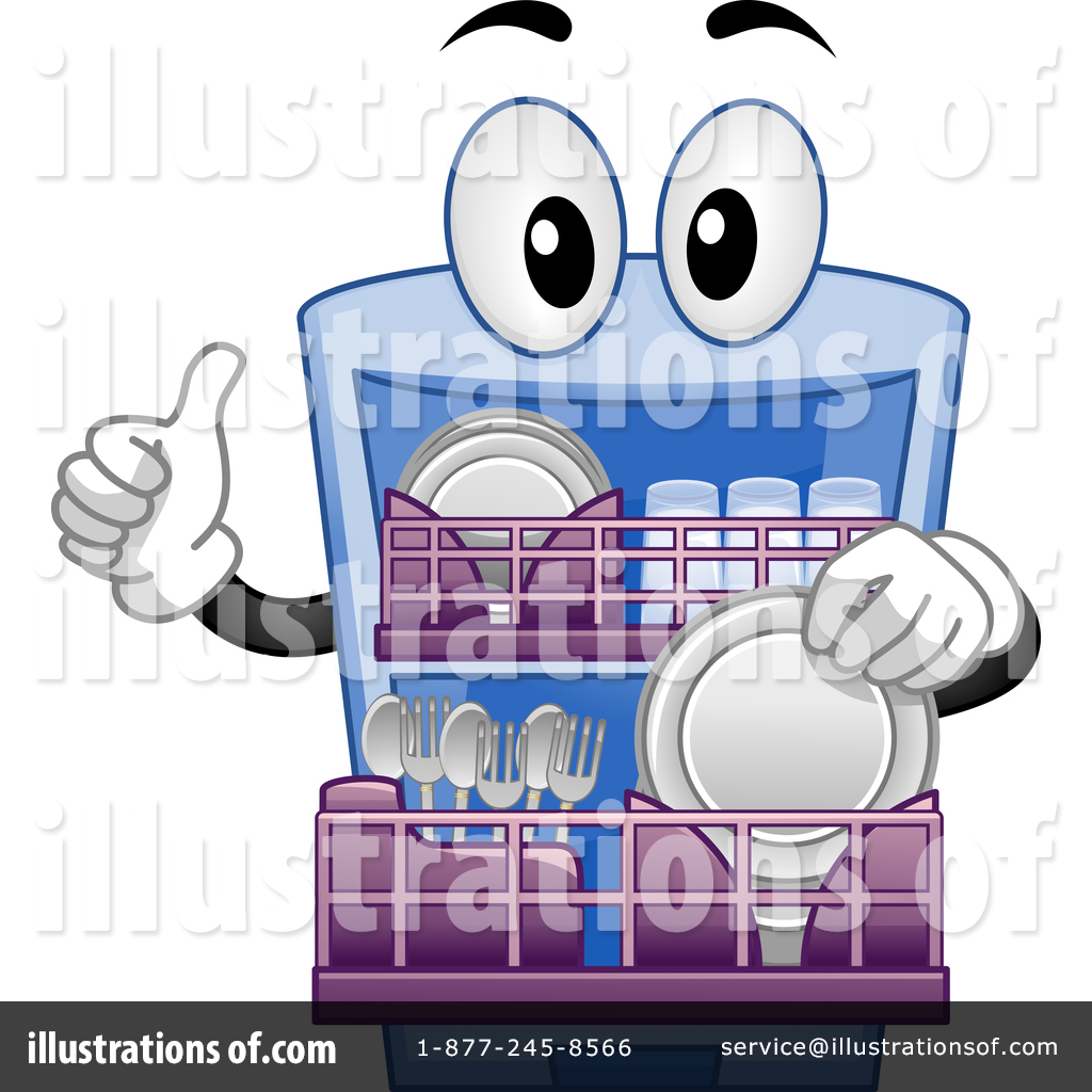 Illustration by bnp design. Dishwasher clipart