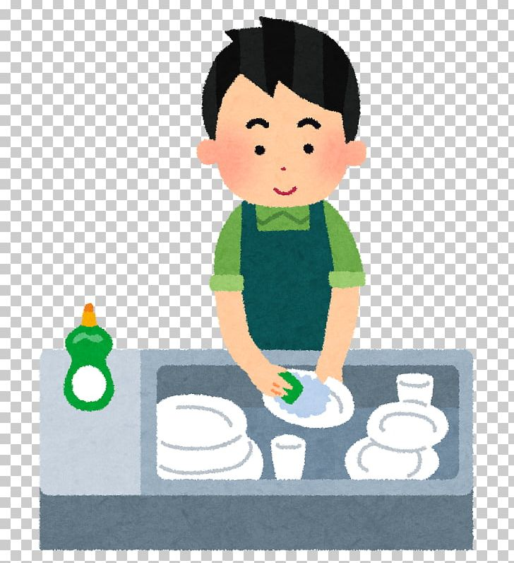 Couvert de table plate. Dishwasher clipart boy