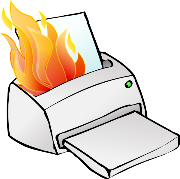 Broken cliparts printer. Paper clipart computer