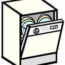 dishwasher clipart stack