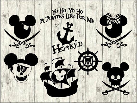 Mickey pirate svg bundle. Disney clipart file