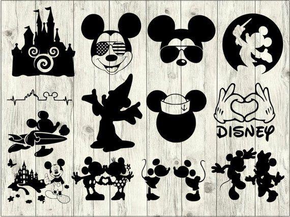 Disney clipart file. Mickey svg bundle cut