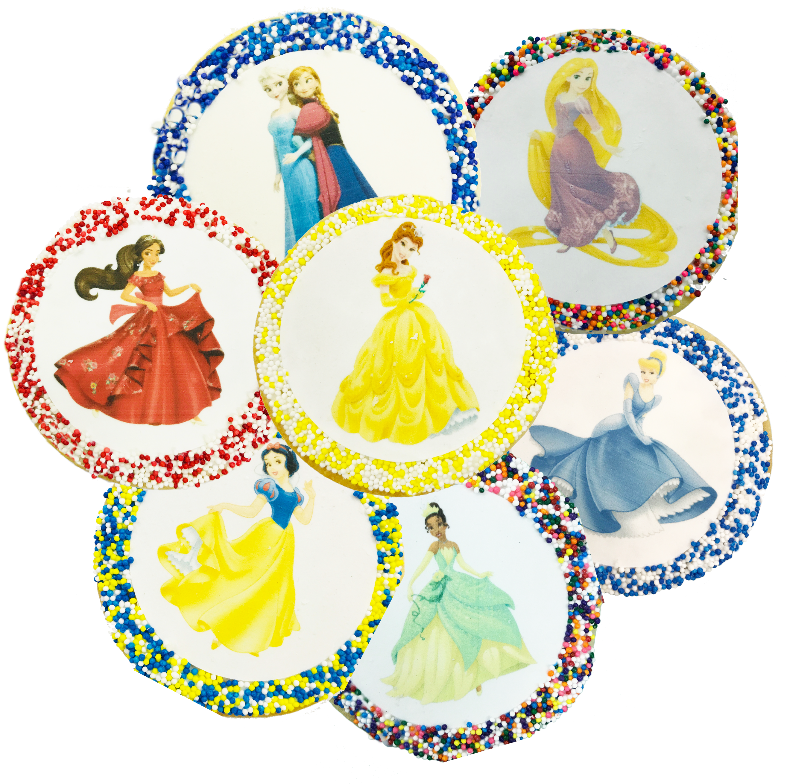Princess sugar cookies with. Disney clipart fourth july