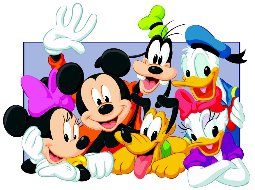Disney clipart group. Disgang png mickey minnie