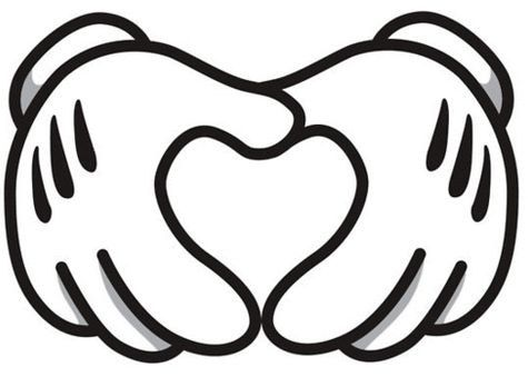 Disney clipart heart. Svg hands mickey