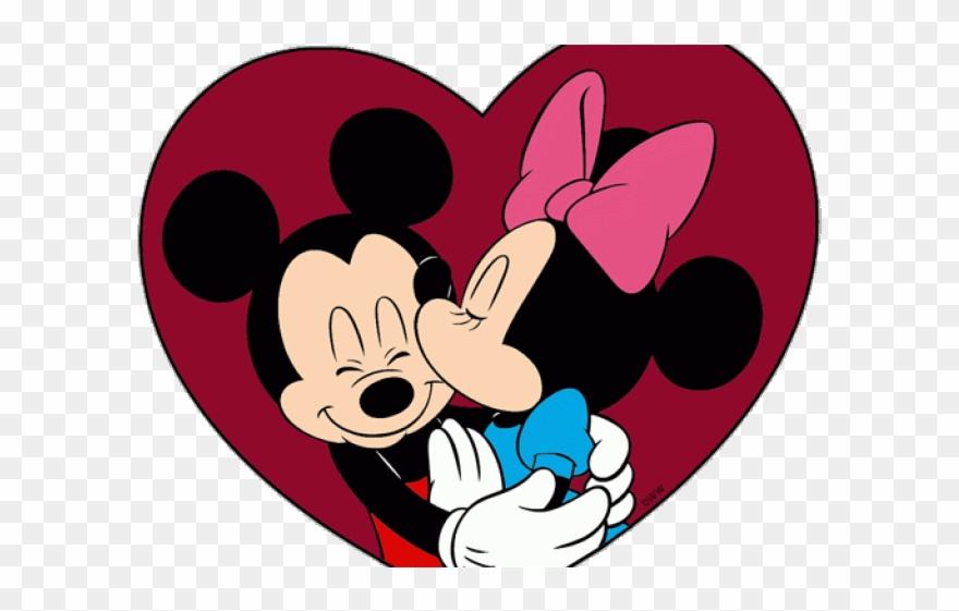Disney clipart heart. Happy valentines day mickey