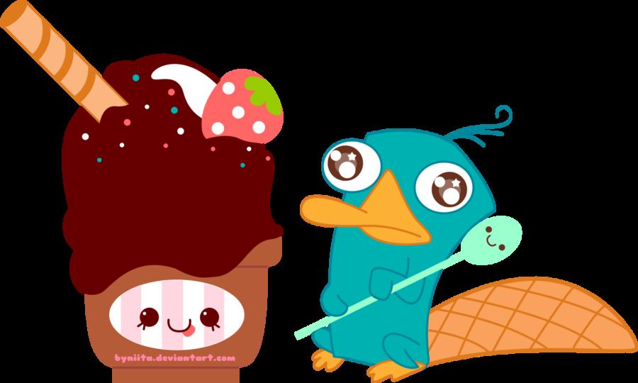 Disney clipart ice cream. Perry love by byniita