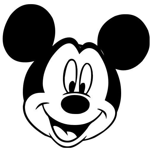 Disney clipart icon. Mickey mouse head black