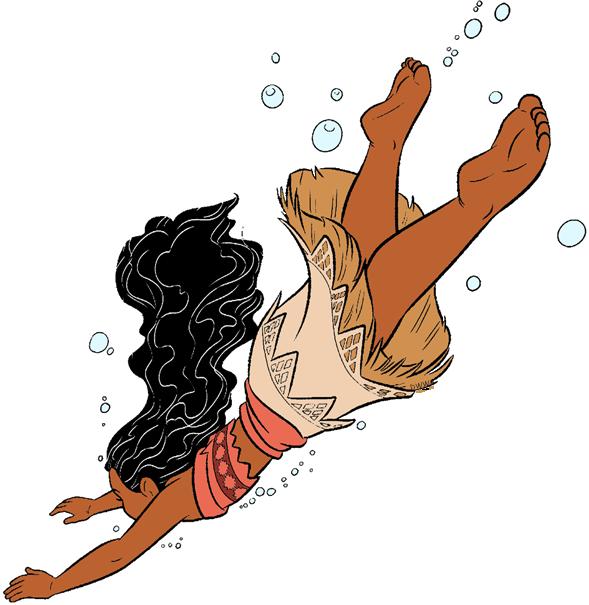Clip art galore swimming. Disney clipart moana