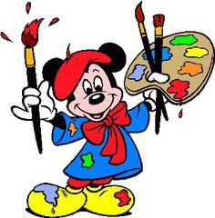 best clip art. Disney clipart painting