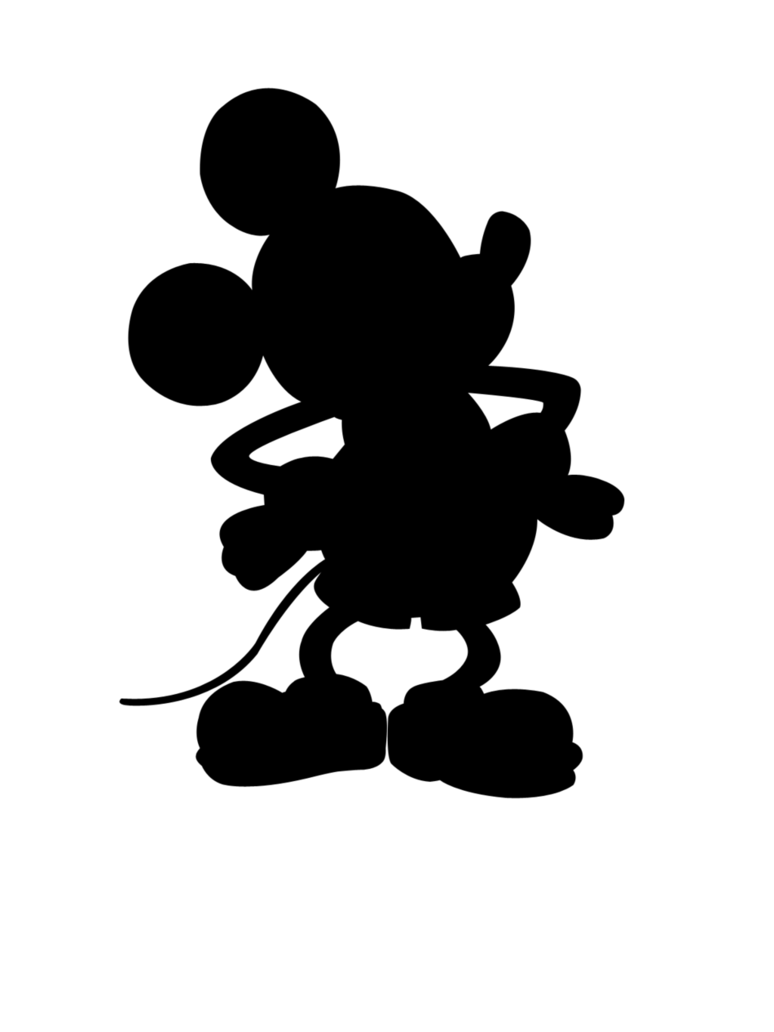 Mickey mouse para recortar. Ears clipart silhouette