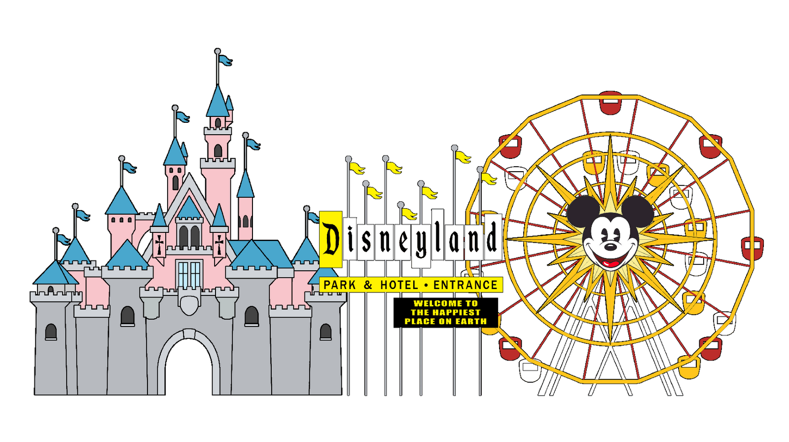 Logo google search disney. Disneyland clipart