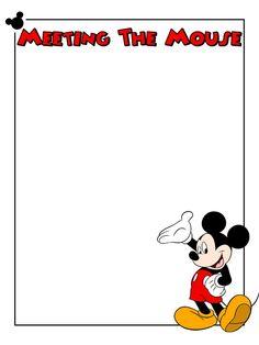 Free mickey cliparts download. Disneyland clipart border