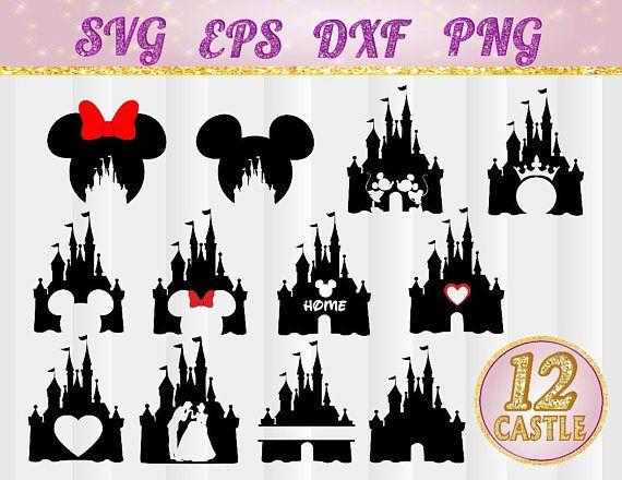 Disneyland clipart design. Disney castle svg heart