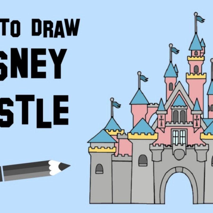 Download disney castle sleeping. Disneyland clipart drawing