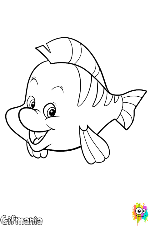 Flounder thelittlemermaid rock. Draw clipart drawing disney