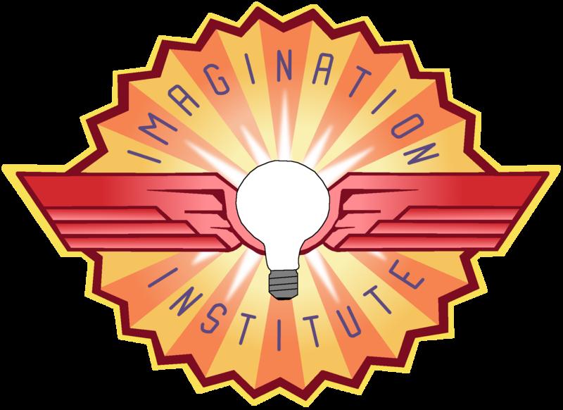 Disneyland clipart emblem. Imagination institute logo by