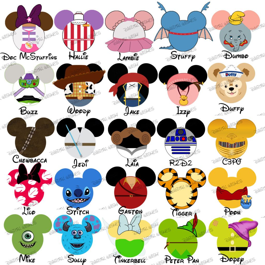 Choose your mouse head. Disneyland clipart family