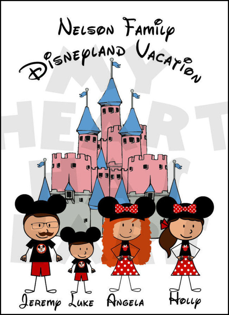 Choose your characters castle. Disneyland clipart family
